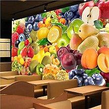 Custom Waterproof Fruit Mural Wallpaper Living