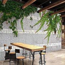 Custom Waterproof Wallpaper 3D Brick Wall Green