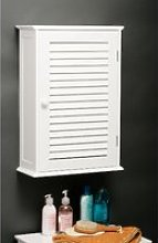 Custom Wooden Bathroom Wall Cabinet In White With