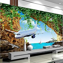 Customize Any Size 3D Photo Plane Sea View
