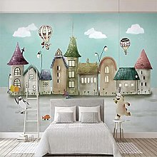 Customized Big Mural Wallpaper Hand Painted Castle