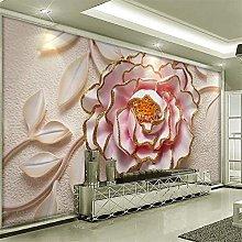 Customized Large Wallpaper 3D Hd Peony Flower