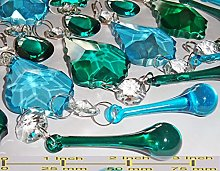 Cut Glass Crystals Droplets Beads Christmas Tree