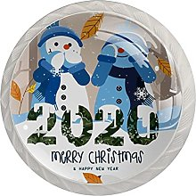 Cute 2020 Christmas Snowman Winter Snow 4 PCs