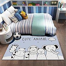 Cute Animal Lion Elephant Giraffe Printing Carpet,
