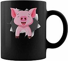 Cute Animal pet Pig Pink Tshirt | 11 oz Funny