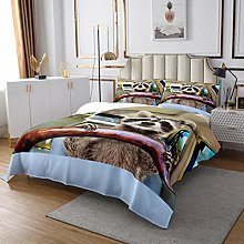 Cute Animal Quilted Coverlet Car Quilted Bedspread