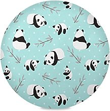 Cute Baby Gift Panda Animal Round Placemats Table