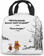 Cute Bear Pooh Lunch Bag Cooler Tote Bag for Men