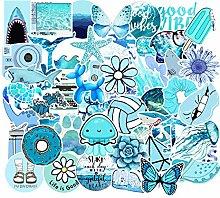 Cute Blue Vsco Stickers for Water Bottle[50pcs]