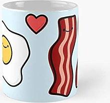 Cute Breakfast Bacon and Egg Classic Mug A -
