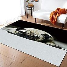 Cute Bulldog Carpet for Living Room Home Living