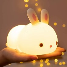 Cute Bunny Kids Night Light,Baby Birthday Gifts