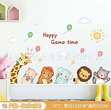 Cute Cartoon Animal Wall Stickers, Children's