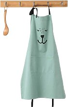 Cute Cartoon Apron With Pocket For Women Kids