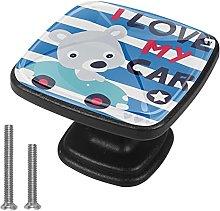 Cute Cartoon Bear I Love My Car, Kitchen Cupboard