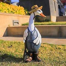 Cute Cartoon Duck Sculpture - Garden Decoration