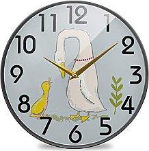 Cute Cartoon Farm Birds Goose Duck Round Wall