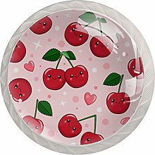 Cute Cartoon Red Cherry, Modern Minimalist