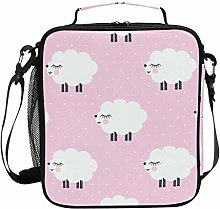 Cute Cartoon Sheep Pattern Pik Lunch Bag Insulated