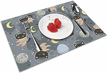 Cute Cat Astronaut Insulation Heat Resistant Table