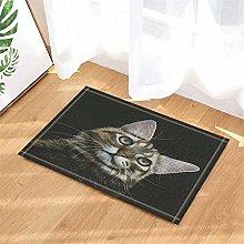 Cute Cat. Door Mat Front Door Carpet Non-Slip Door