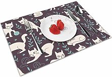 Cute Cat Insulation Heat Resistant Table Mats Easy