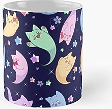Cute Cat Pastel Ghost Classic Mug - Gift The