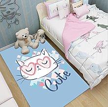 Cute Cat Printing Cartoon Animal Kids Carpet,