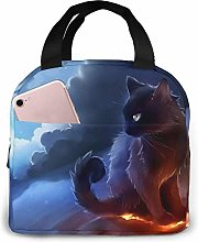 Cute Cat Reusable Lunch Bags Leakproof Insulated