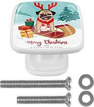 Cute Christmas Pug Dog Sled Gift Box Kitchen