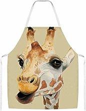 Cute Close Up Giraffe Watercolor Home Kitchen