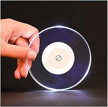 Cute Coaster Acrylic Crystal Ultra-Thin Led Light