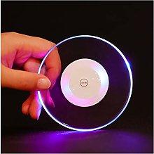 Cute Coaster LED Light Coaster Crystal Cup Mat