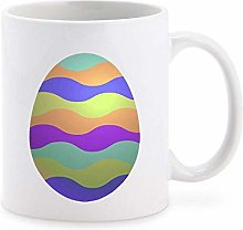 Cute Colorful Patterned Easter Egg Cartoon, Pastel
