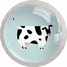 Cute Cow Drawer Round Knobs Cabinet Pull Handles