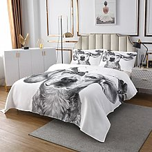 Cute Dog Coverlet Set 3D Animal Quilted Bedspread