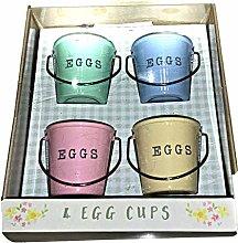 Cute Egg Cup Buckets - 4 Egg Cup Buckets -Mini