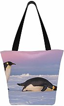 Cute Emperor Penguins One Standing One 11×7×13