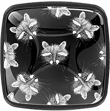 Cute Fox 4Pcs Knobs Door Handle Cabinet Drawer