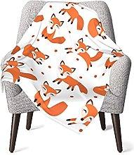 Cute Fox Pattern Baby Blanket Boys Soft Baby