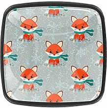 Cute Fox with Scarf Square Cabinet