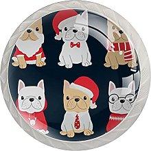 Cute French Bulldog Puppy Christmas (4Pack)