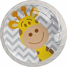 Cute Giraffe Chevron Pattern Drawer Knobs Pulls