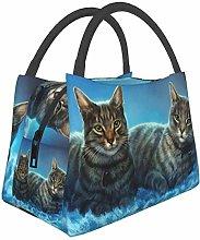 Cute Gray Cats Billiard Balls Sport Game Lunch Bag