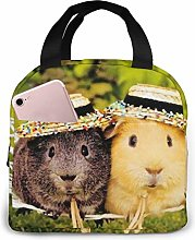 Cute Guinea Pig Lunch Bags Insulated Travel Picnic