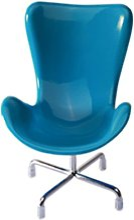 Cute Hedgehog Mini Chair Small Animal Toy Plastic