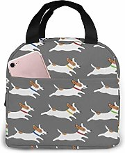 Cute Jack Russell Terrier Lunch Bag,Reusable