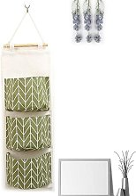 Cute Linen Fabric Hanging Storage Bag Behind