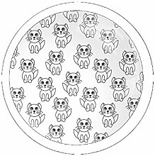 Cute Little Kittens 4 Pack Round Glass Drawer